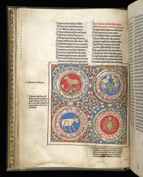 Four Signs Of The Zodiac, In A Collection Of Treatises On The Computus By Bede And Others